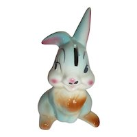 Vintage Walt Disney Thumper Bank Rabbit Bunny Ceramic Easter