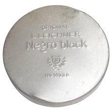 Original NEGRO BLACK TIN L. Leichner Theater Make-Up Mint