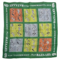 Vintage Bazaar Cotton Print 9-Day Diet Hanky Handkerchief