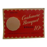CASHMERE BOUQUET Rouge Bakelite Compact Mint on Card