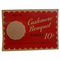 CASHMERE BOUQUET Rouge Bakelite Compact Mint on Card