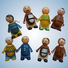 8 Vintage Tweakie Toy Figure Dolls J Chein 1969 Tweakies