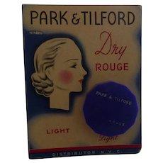 Deco PARK & TILFORD ROUGE Bakelite Compact Mint Original Card