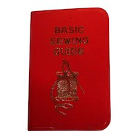 "Miniature Vintage Hallmark ""Basic Sewing Guide Book"