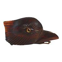 Chunky Carved BAKELITE Bird (Eagle) Head Clip