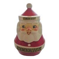 Vintage 1964 HOLT HOWARD Christmas Santa Claus Cookie & Candy Jar Combo Set