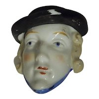Vintage Japan Tiny Wall Pocket Head Vase Flapper Girl Woman's Face
