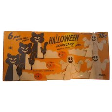 Adorable 6 Original in Package Halloween Place Cards Cat JOLs Ghosts