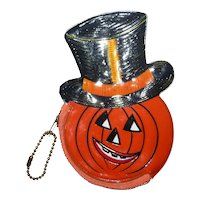 Vintage Halloween Jack O Lantern Coin Purse Old Stock Barton's Candy Pumpkin JOL