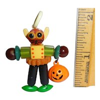 Bakelite Button Bead Crib Toy Cat Doll Charm Pendant Lucite Casein Pieces Halloween JOL