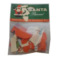 Adorable 6 Original in Package Christmas Santa Place Cards