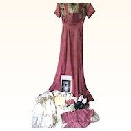 Edwardian Wedding Trousseau of Mary Woodruff dated 1909, Marion Ohio