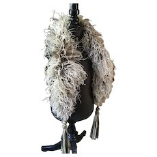 Ostrich Feather Boa with Tassels - Edwardian