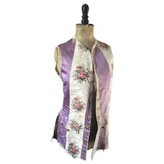 Theatrical Waistcoat - Floral and Striped Moire Silk circa 1920's - Red Tag Sale Item