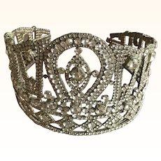Circa 1950's Large Rhinestone Crown