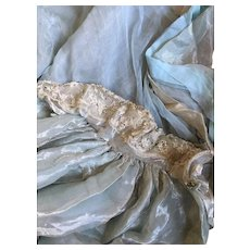 Circa 1900's Antique Chiffon, Lamé and Paste Court Train with Provenance (Laura Barnett) - Red Tag Sale Item