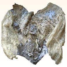 Decorative Antique Silk, Lace and Sequinned Edwardian Bodice