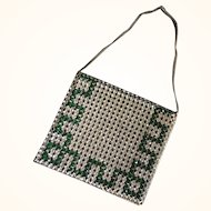 Rhinestone Evening Bag - 1920's Art Deco