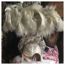 Original Vintage 1930's Lamé and Ostrich Feather Showgirls Head dress