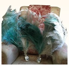 Original 1930's Showgirl Costume Feathers with Sequins