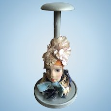 1920's French Boudoir Doll Flapper Wooden Hat Stand