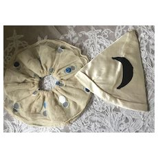 1920's Pierrot Hat and Collar