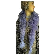 Original Lavender Coloured Ostrich Feather Boa dating to the 1920's