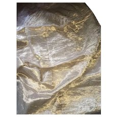 Large Piece of Original Sheer Gold Lamé 1920's Fabric