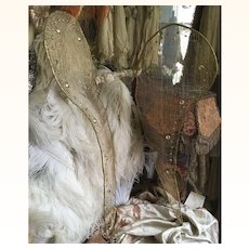 Circa 1930's Belgian Woven Gold Lamé Processional Angel Wings RESERVED