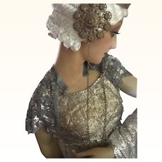 1920's Beaded and Sequinned Shoulder Capelet