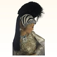 Rare 1920's Zebra Showgirl Head dress