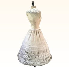 Antique Victorian Cotton Crinoline