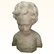 Vintage Bust of a small child/Cherub