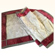 19th Century Gold Brocade and red Silk Velvet Ecclesiastical Table runner