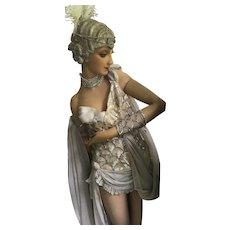 Rare Original Marinette & Jean Aumond Sequinned 1920's Showgirl Costume