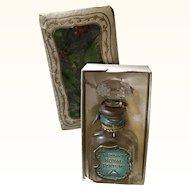 Antique Edwardian Perfume Bottle 1908 in Original Box