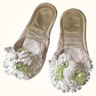 Vintage Satin Slippers - Pair for a child or doll