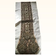 Antique Beaded and Embroidered Edwardian Dress Panel circa 1910