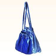 Original 1920s Blue Silk Velvet Bag
