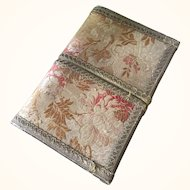 French Silk Brocade and Metallic Trim Box - 19th century