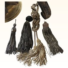 Group of 4 Antique French Gold & Bronze Metallic Tassels