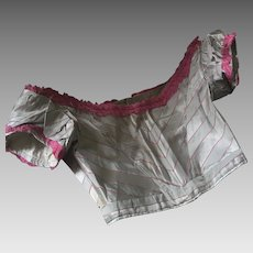 Antique Victorian Silk Bodice for a child/small adult