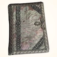 Needle / Calling Card Case - Victorian Silk Brocade and Metallic Trim