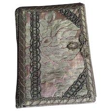 Needle / Calling Card Case - Victorian Silk Brocade and Metallic Trim