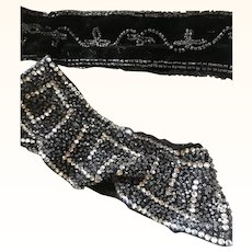 Two beaded Flapper dress Collars from the 1920's