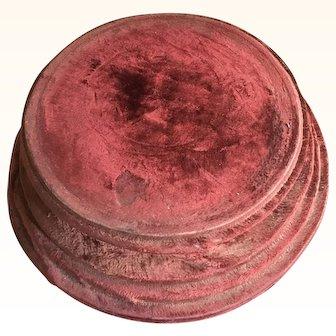 Edwardian Red Silk Velvet Plinth
