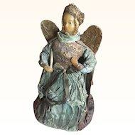 Rare Late 19th Century German Wax Christmas Angel