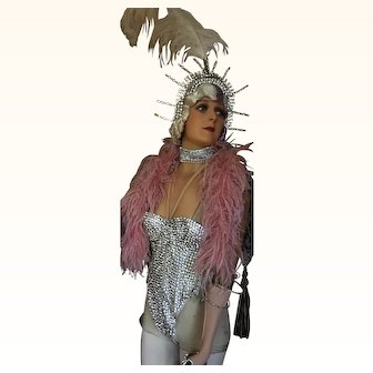 Circa 1950's Rhinestone Burlesque Costume