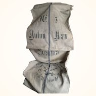 Linen Grain Sack for decoration or projects dated 1935