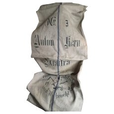 Original German Linen Grain Sack for decoration or projects dated 1935